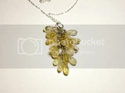 Citrine gemstone and sterling silver necklace