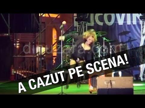 VIDEO Sandra cade pe scenă, la Suceava