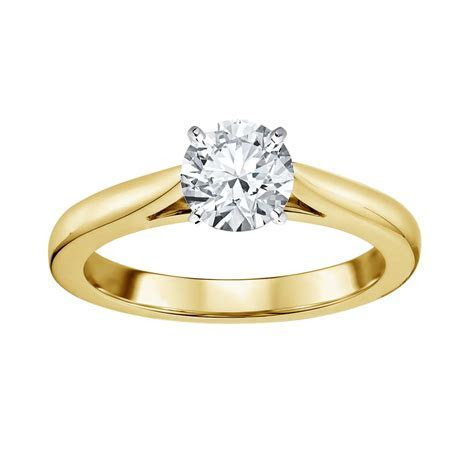 Tradition Diamond 14K Yellow Gold 1 Carat Certified Round