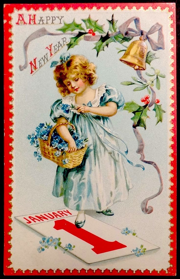 vintage happy new year postcard | ... My Fanciful Muse: Happy New Year - Vintage Raphael Tuck & Sons Images