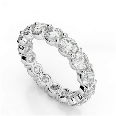 4 Carat Forever Brilliant Moissanite Eternity Band