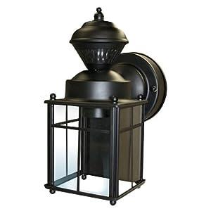Heath/Zenith SL-4132-BK 150-Degree Bayside Mission Style Motion Sensing Decorative Security Lantern, Black