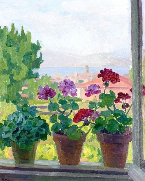 petitpoulailler:  simena: Blanche Augustine Camus (French, 1881-1968) ~Window over Saint-Tropez