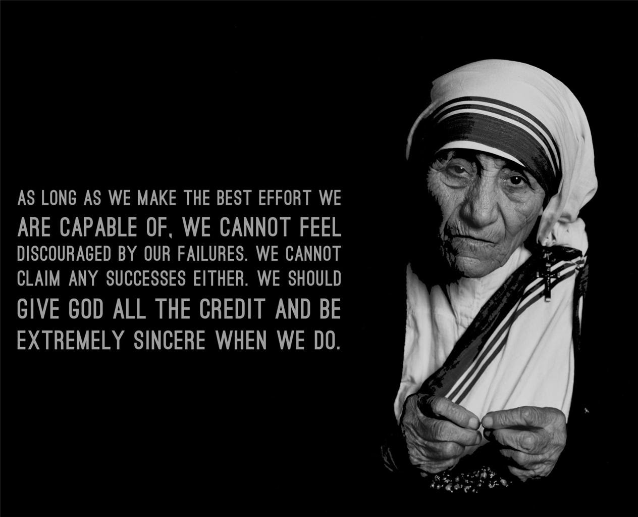 MOTHER THERESA QUOTE GLOSSY POSTER PICTURE PHOTO motivational
