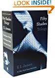 Fifty Shades Trilogy by E L James book cover