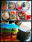 """Thanks to Emily C for sharing these delicious meals on our Facebook wall. She wrote, """"Thank you, I love my easy lunch boxes. I use them for my kids lunches and for outdoor concerts with my family!"""""""