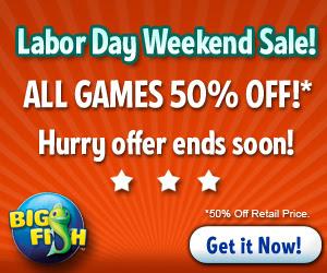 Big Fish Games Labor Day 2012 Sale