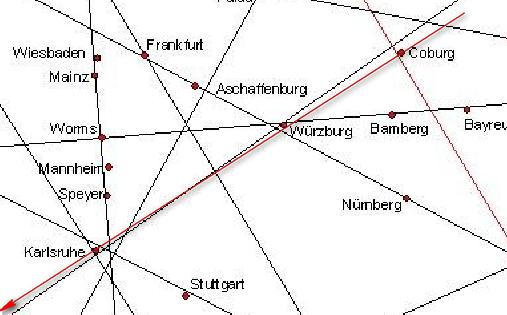 Karte leylines Grenzübergänge österreich