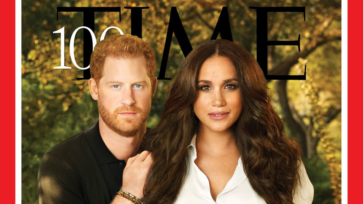 Prince Harry and Meghan Markle Pose for 1st Magazine Cover for Time's Most Influential People of 2021