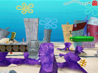Platforming gameplay in Spongebob Squarepants The Yellow Avenger