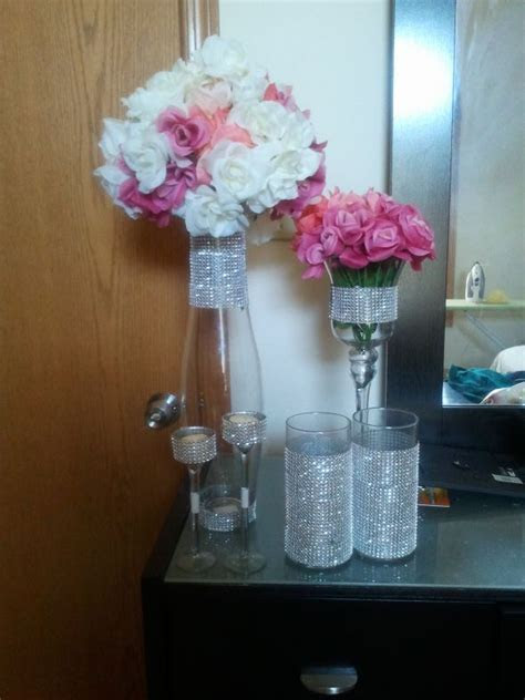 1000  images about Bling centerpieces on Pinterest   Bling