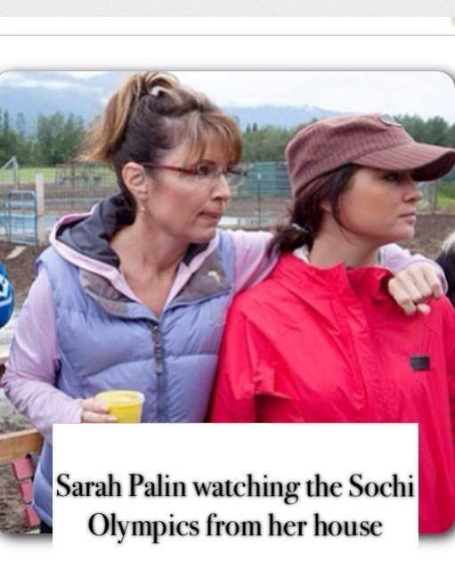 The Immoral Minority: Sarah Palin watches the Sochi Olympics.