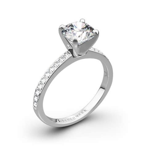 Benchmark LCP1 Small Pave Diamond Engagement Ring