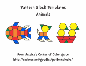 free for kids pattern block templates animals. Black Bedroom Furniture Sets. Home Design Ideas