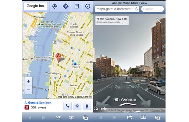 Google Maps Street View Returns To Iphone Ipad Complex