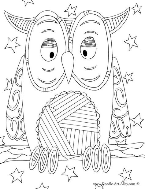 bird coloring pages doodle art alley owl classroom