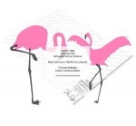 Flamingo Pair of Silhouettes Yard Art Woodworking Pattern - fee plans from WoodworkersWorkshop® Online Store - pink flamingoes,birds,animals,wildlife,yard art,painting wood crafts,scrollsawing patterns,drawings,plywood,plywoodworking plans,woodworkers projects,workshop blueprints