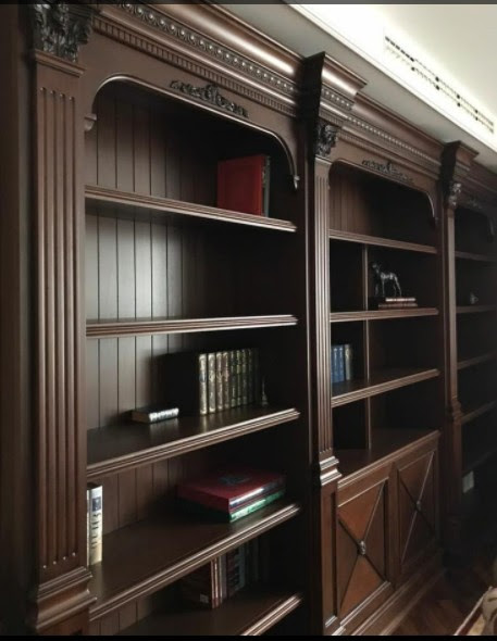 librerie su misura in legno trento