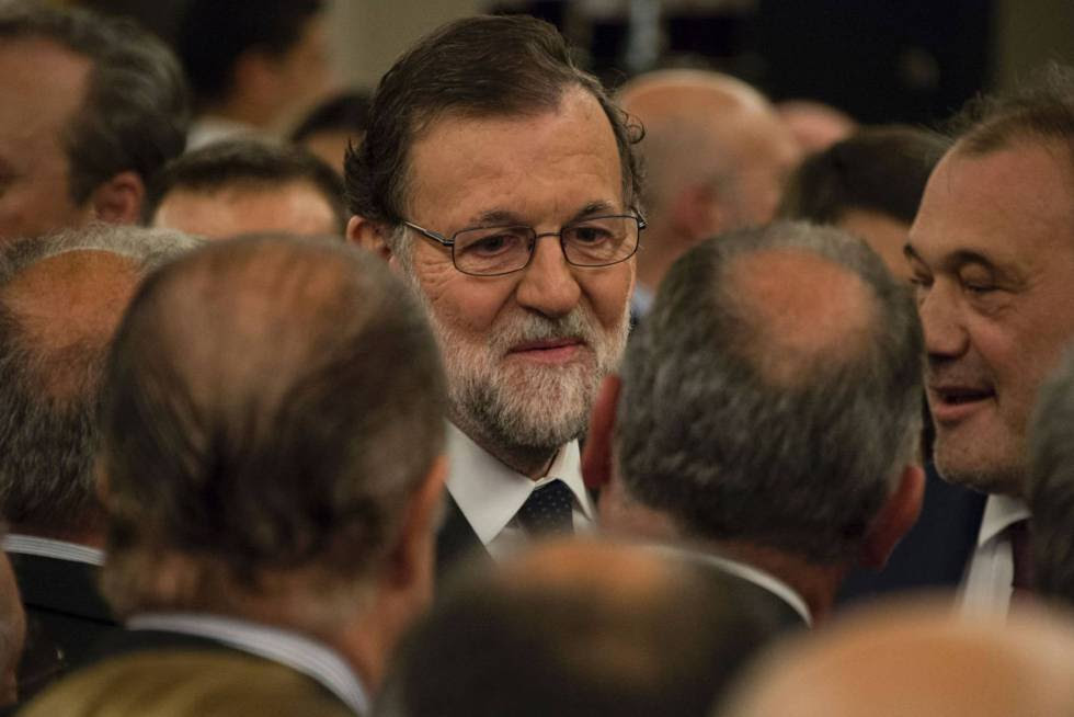Spanish PM Mariano Rajoy in Montevideo on Tuesday.