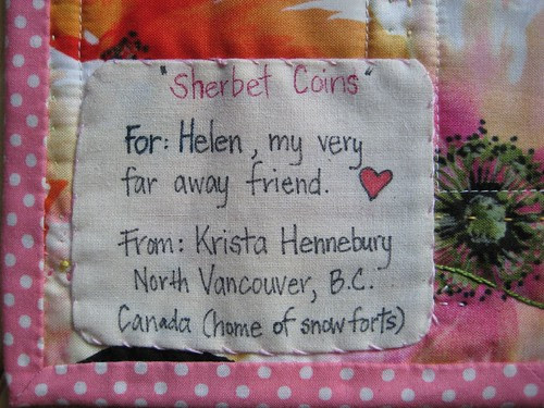 Sherbet coin label