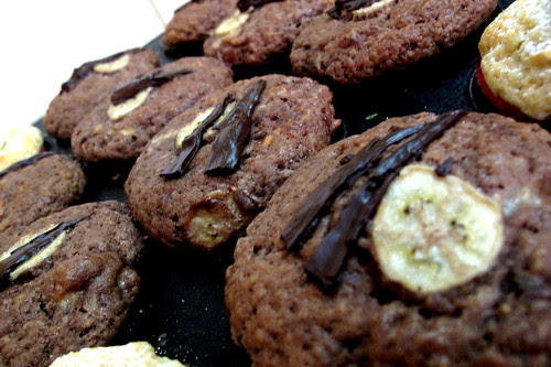 Schoko Banane Muffins