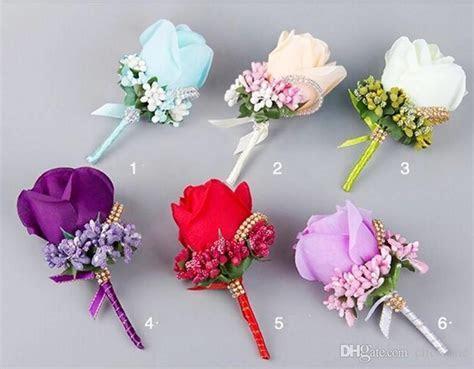 Artificial Flower Wedding Bridal Bouquets Beads Bridesmaid