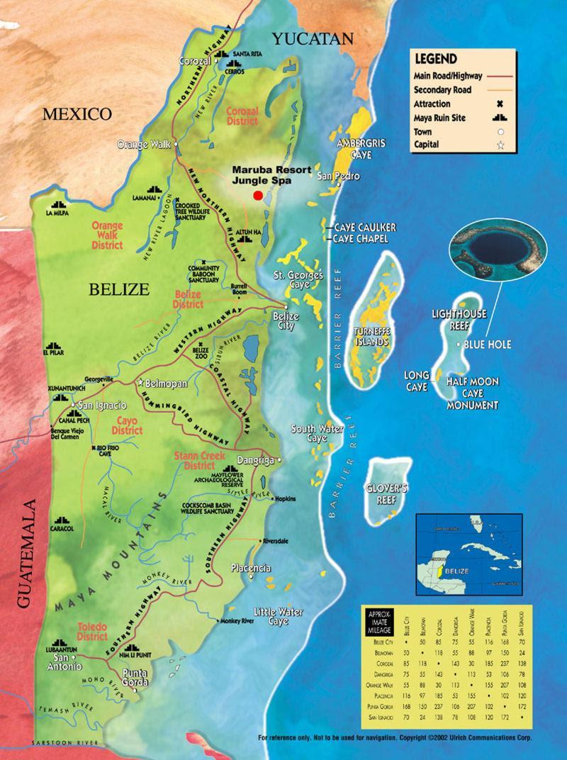 Belize Maps, Ambergr