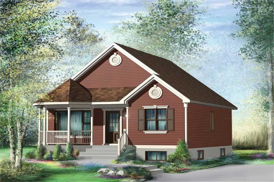 Small, Bungalow, Country House Plans Home Design PI10014 12653 - Southern House Plan 1761019: 3 Bedrm, 1820 Sq Ft Home ThePlanCollection