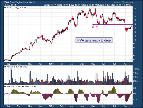 1-year chart of Penn (NYSE: PVA)