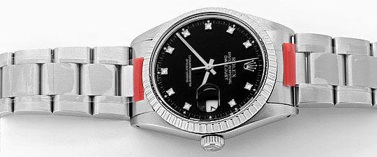 Foto 1, Rolex Datejust Herren-Uhr Edelstahl Diamant-Zifferblatt, U2064