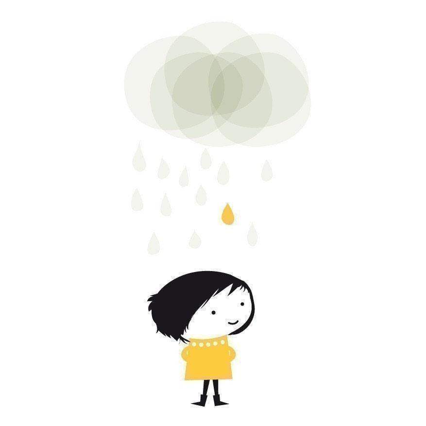 Rainy day small print