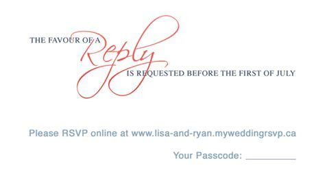 RSVP Reply Card Design   My Online Wedding RSVP