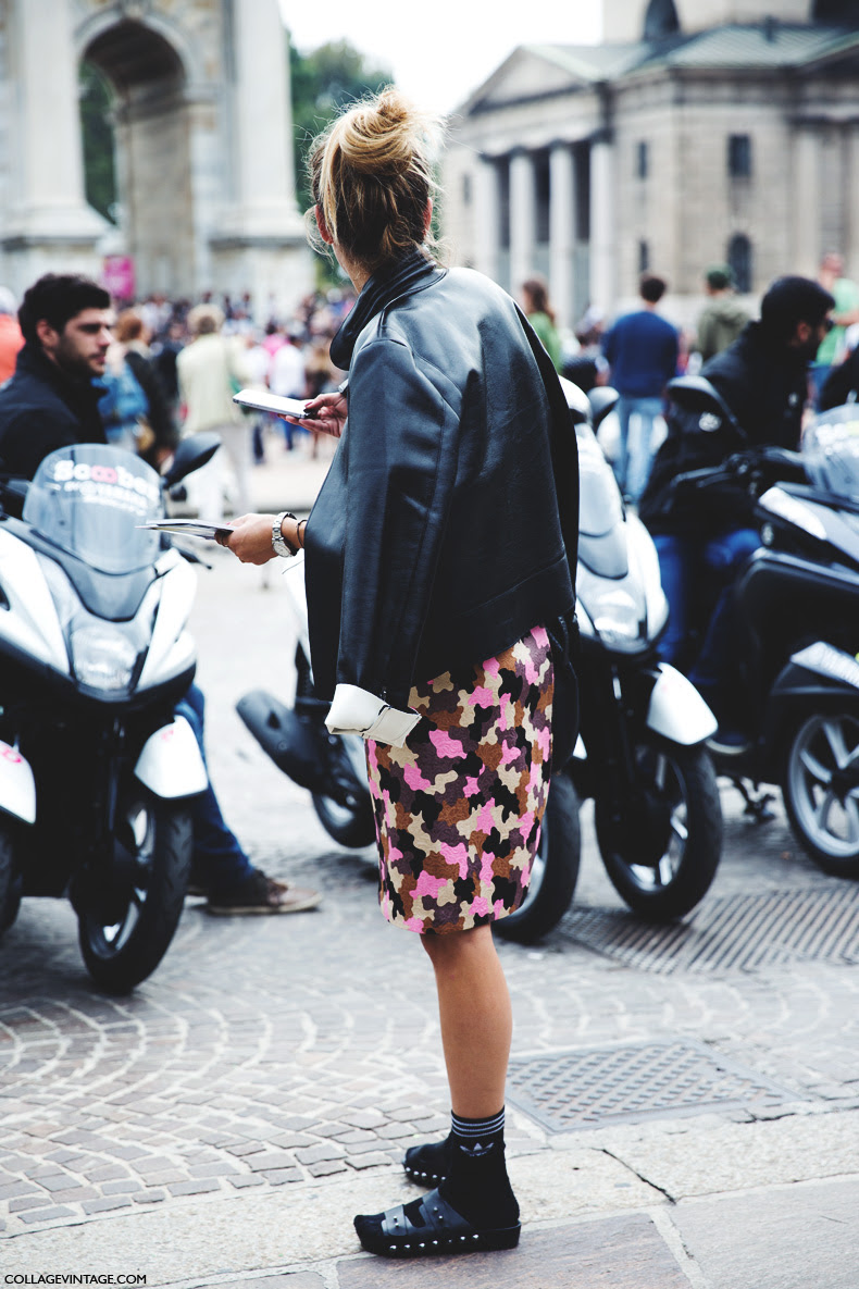 Milan_Fashion_Week_Spring_Summer_15-MFW-Street_Style-Miliart_Skirt-Sandals-Birks-Socks-