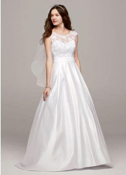 Cap Sleeve Wedding Dress with Illusion Neckline   David's