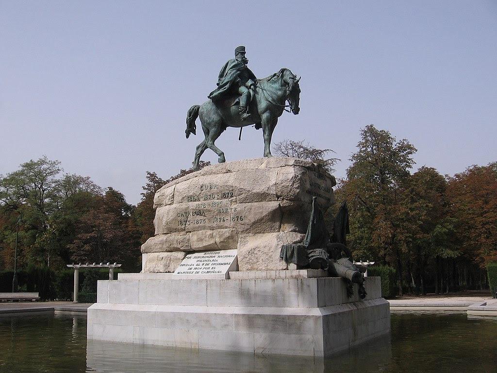Parque del Retiro Arsenio Martínez Campos Monument.JPG