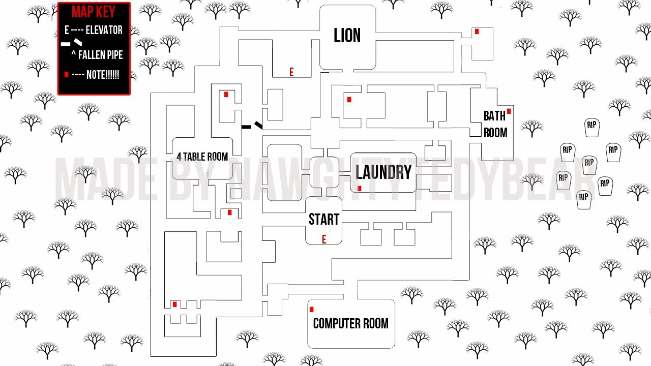Slender Sanitorium Map