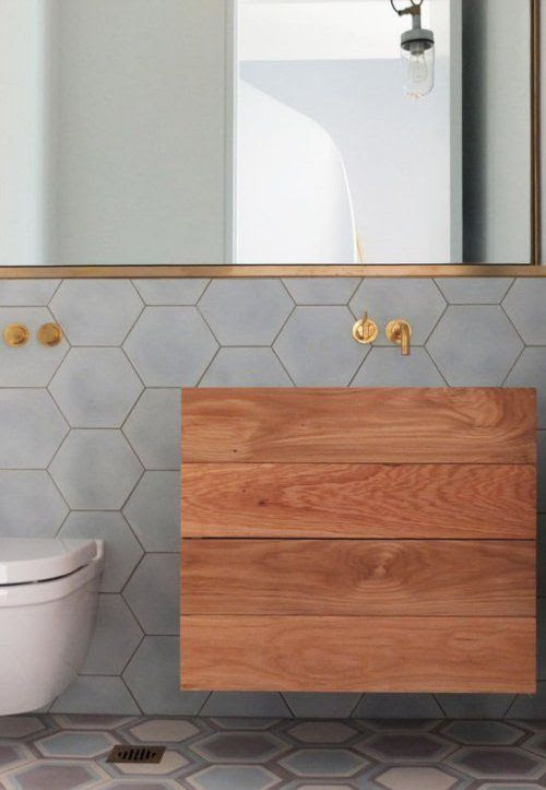 Modern Bathroom-Wood & Fixtures