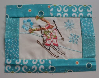Aurifil December Desgners of the Month lizzie b cre8tive ski girl
