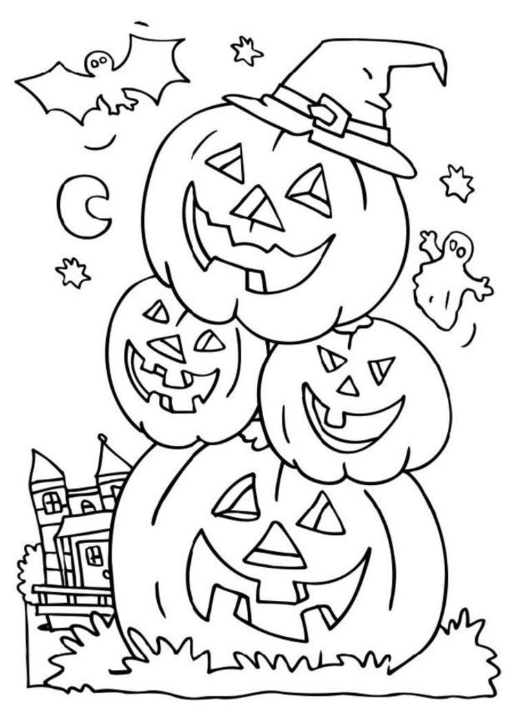 Dessin A Colorier De Halloween Goshowmeenergy