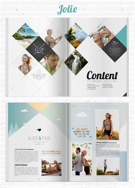 Create Your Own Wedding Magazine with Twenty Pages   Green
