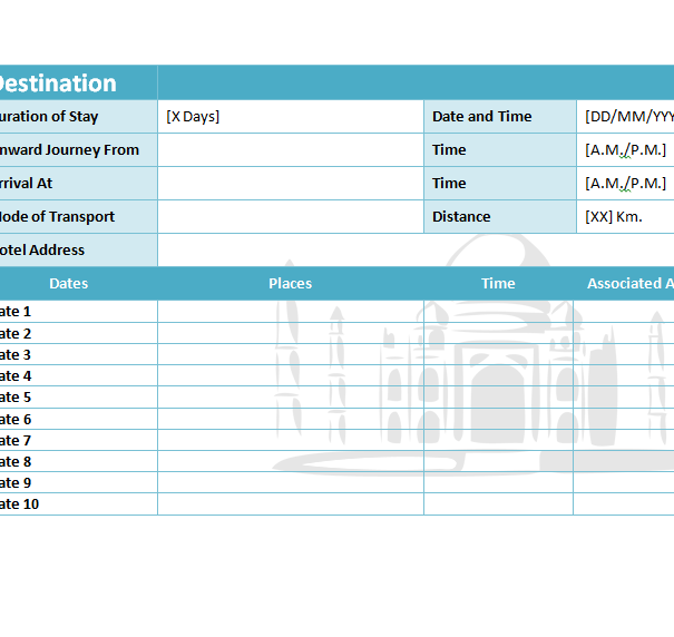 Download 19 Get Excel Business Travel Itinerary Template Images Vector
