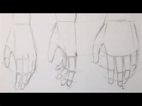 draw anime hands relaxed  fist youtube