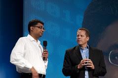 Hasan Rizvi and Doug Fisher, JavaOne Keynote, JavaOne + Develop 2010, Moscone North