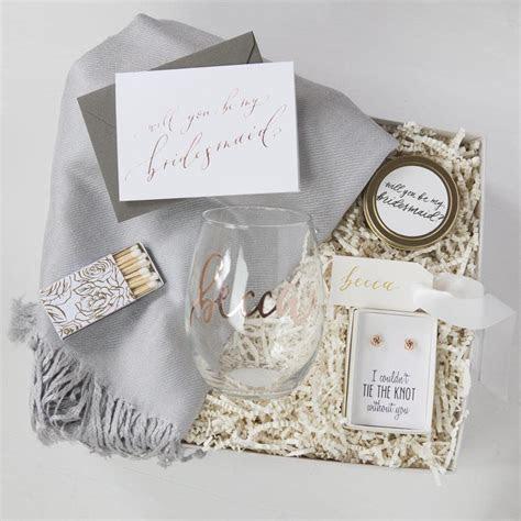Custom Bridesmaid Gift Boxes   Foxblossom Co.
