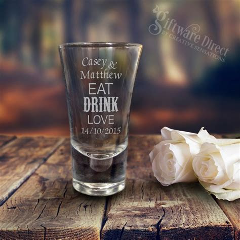 Engraved Deluxe 60ml Wedding Shot Glasses Cheap Favours