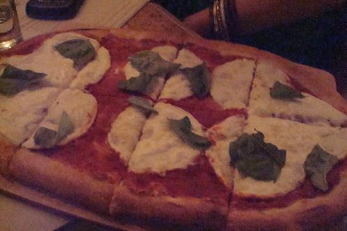 Holy Trinity tomato sauce, basil, fresh mozzarella (NV) or vegan mozzarella.
