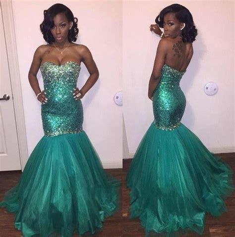 vestidos de noche sparkly emerald green prom dresses long