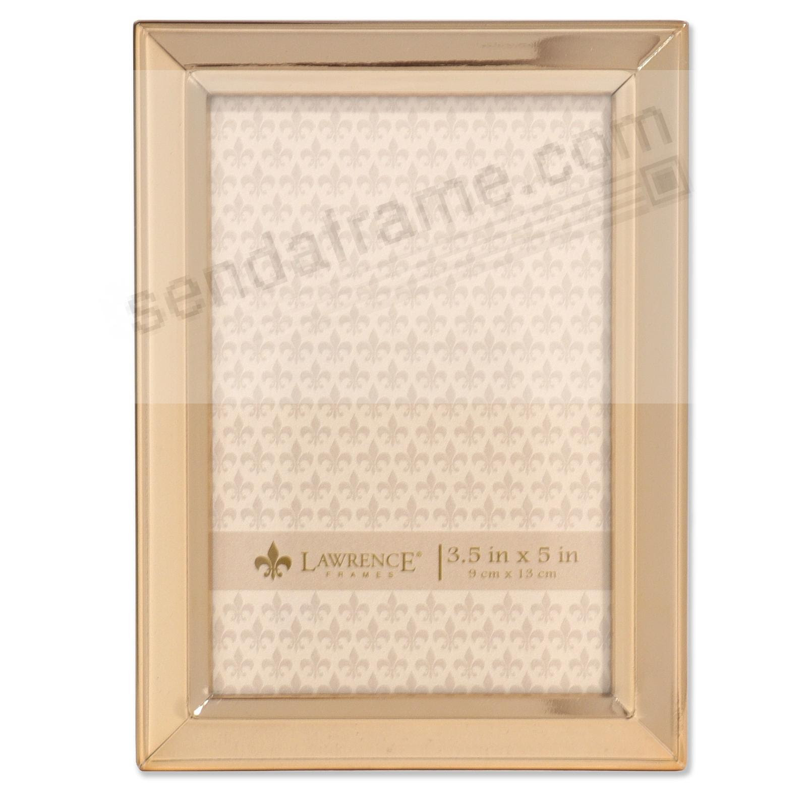 Bevelled Border Gold Finish 3x5 Frame By Lawrence Picture Frames
