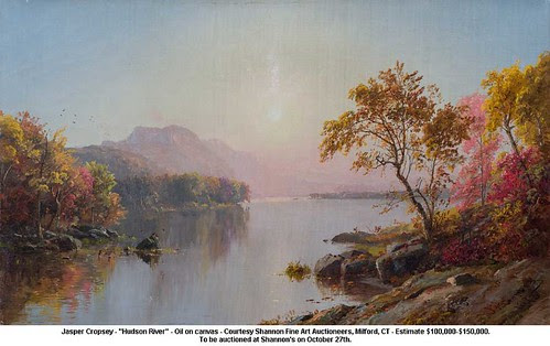 "Jasper Cropsey - ""Hudson River"" by artimageslibrary"