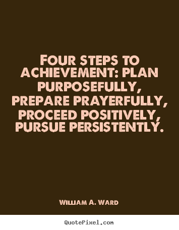 How To Design Photo Quotes About Success Four Steps To Achievement